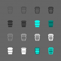 Iced Coffee Icon - Multi Series