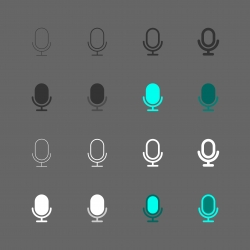 Retro Microphone Icon - Multi Series