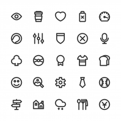 Universal Icon Set 5 - Bold Line Series