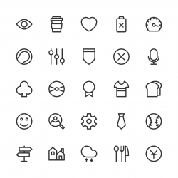 Universal Icon Set 5 - Line Series