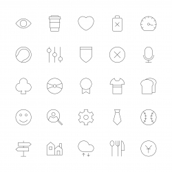 Universal Icon Set 5 - Ultra Thin Line Series