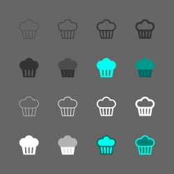 Cupcake Icon - Multi Series