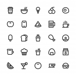 Food and Drink Icon Set 1 - Bold Line Series