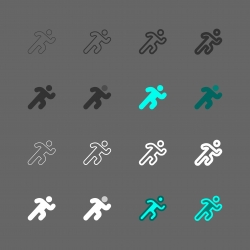 Running Icon - Multi Series