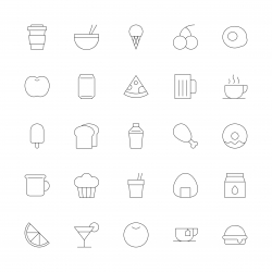 Food and Drink Icon Set 1 - Ultra Thin Line Series