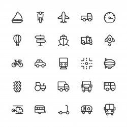 Transport Icon - Line Series