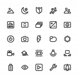 Camera Function Icon Set 1 - Bold Line Series
