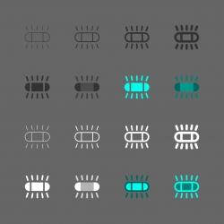 Fluorescent Lamp Icon - Multi Series