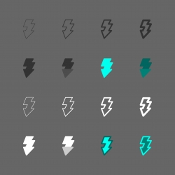 Lightning Arrow Icon - Multi Series