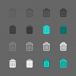 Trashcan Icon - Multi Series
