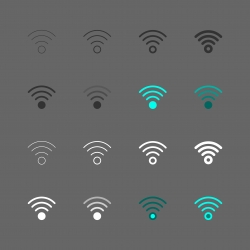 Wireless Sign Icon - Multi Series