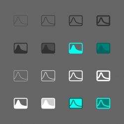 Photo Histogram Icon - Multi Series
