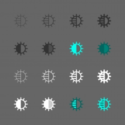 Brightness Adjustment Icon - Multi Series