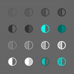 Contrast Adjustment Icon - Multi Series