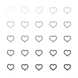 Heart Shape Icon - Multi Line Series