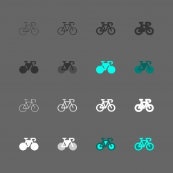 Road Bike Icon - Multi Series