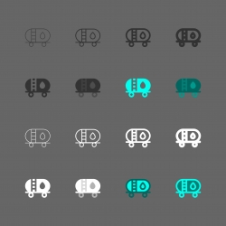 Fuel Tanker Icon - Multi Series