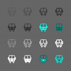 Bus Icon - Multi Series