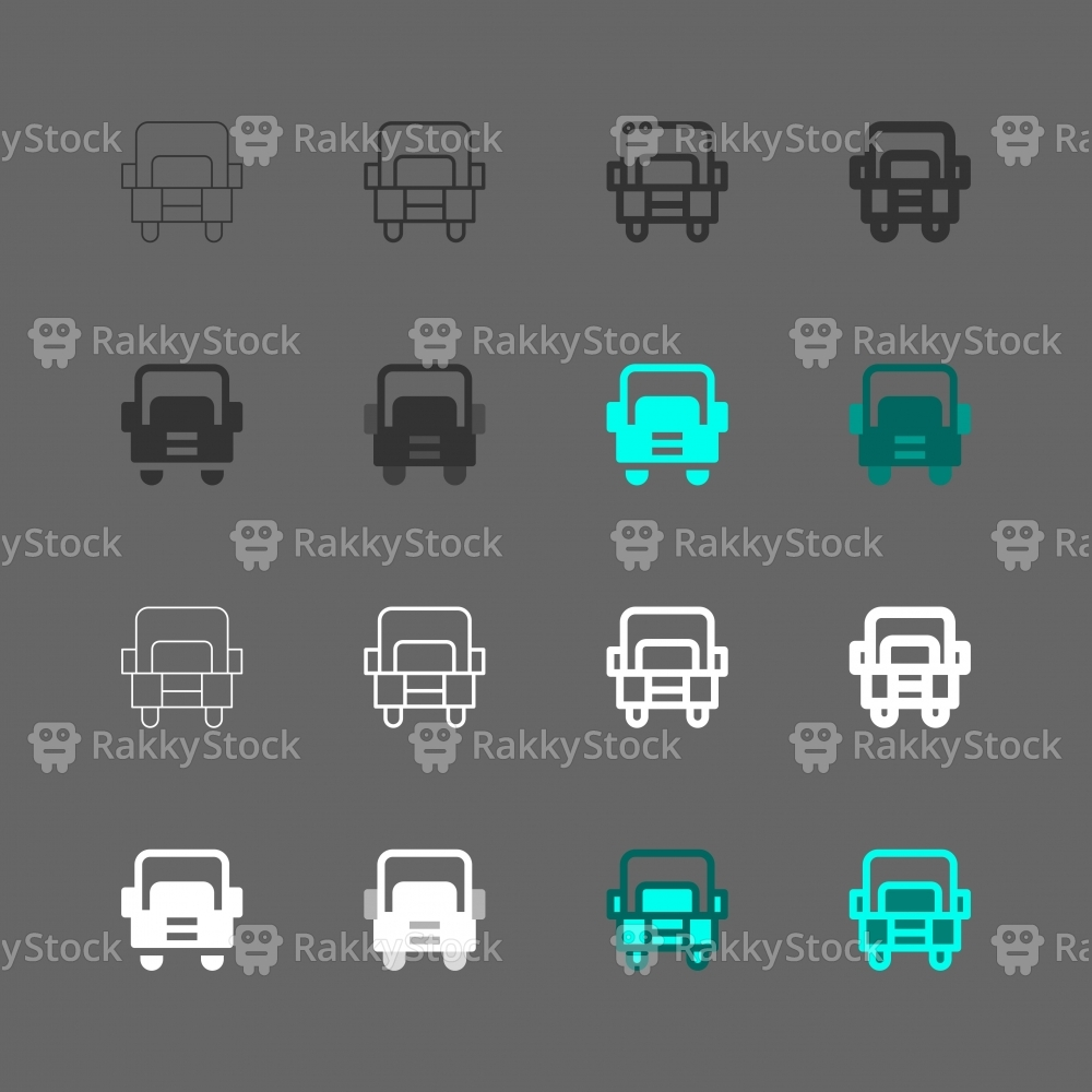 Ten-Wheeled Truck Icon - Multi Series