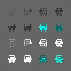 Ten-Wheeled Truck Icon - Multi Series