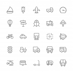 Transport Icon - Thin Line Series