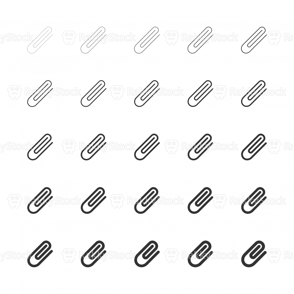 Paper Clip Icon - Multi Line Series