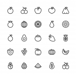 Fruit Icon - Line Series