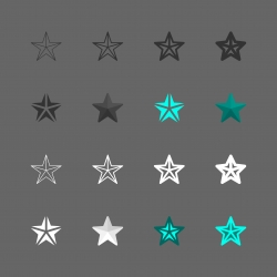 Star Shape Icon - Multi Series