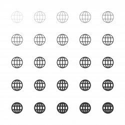 Globe Icon - Multi Line Series
