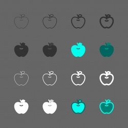 Green Apple Icon - Multi Series