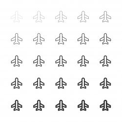 Airplane Icon - Multi Line Series