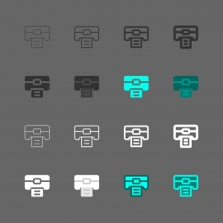Printer Icon - Multi Series