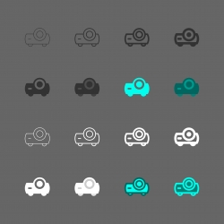 Projector Icon - Multi Series