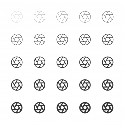 Aperture Icon - Multi Line Series