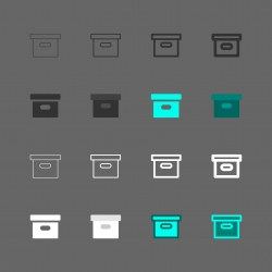 Cardboard Box Icon - Multi Series
