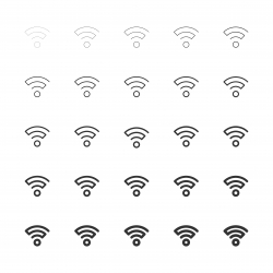 Wireless Signal Icon - Multi Line Series