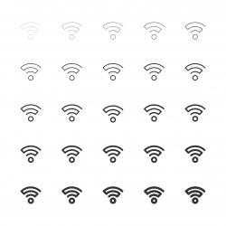 Wireless Signal Icon - Multi Line Series