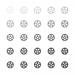 Soccer Ball Icon - Multi Line Series