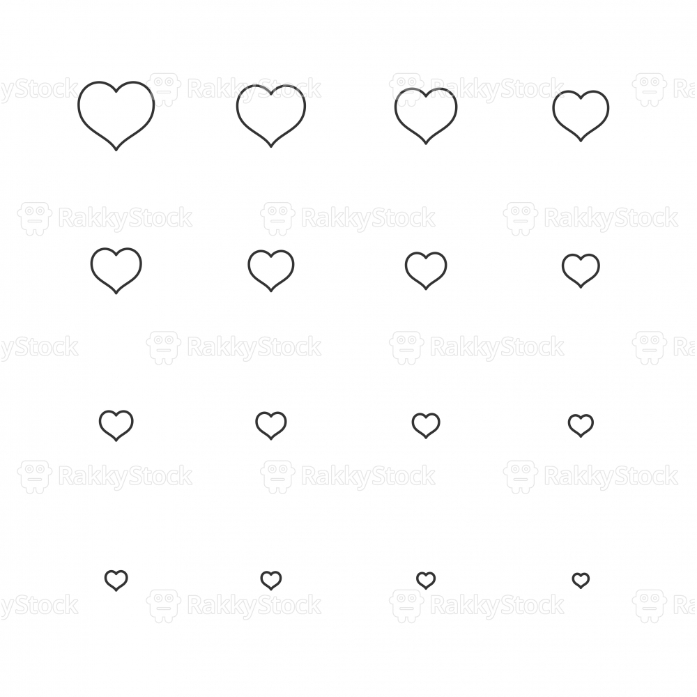 Heart Shape Icon - Multi Scale Line Series