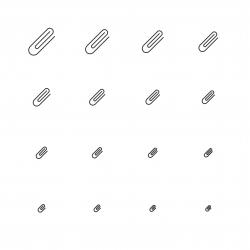 Paper Clip Icon - Multi Scale Line Series
