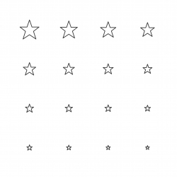 Star Shape Icon - Multi Scale Line Series