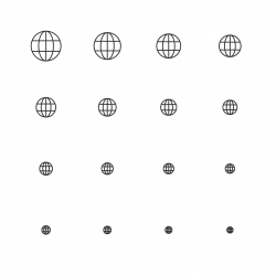 Globe Icon - Multi Scale Line Series