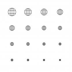 Globe Icon - Multi Scale Line Series
