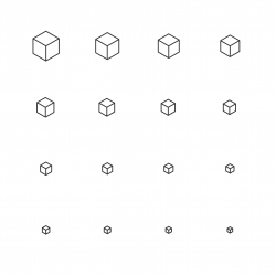 Cubic Icon - Multi Scale Line Series