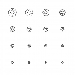Aperture Icon - Multi Scale Line Series