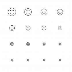Smiley Emoticon Icon - Multi Scale Line Series