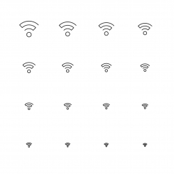 Wireless Signal Icon - Multi Scale Line Series