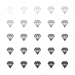 Diamond Icons - Multi Line Series