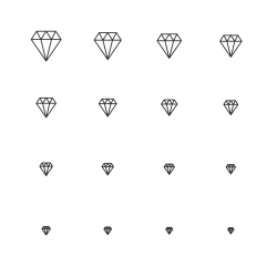 Diamond Icons - Multi Scale Line Series