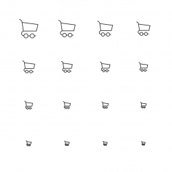Shopping Cart Icons - Multi Scale Line Series